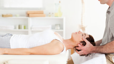 chiropractor adjustment a woman